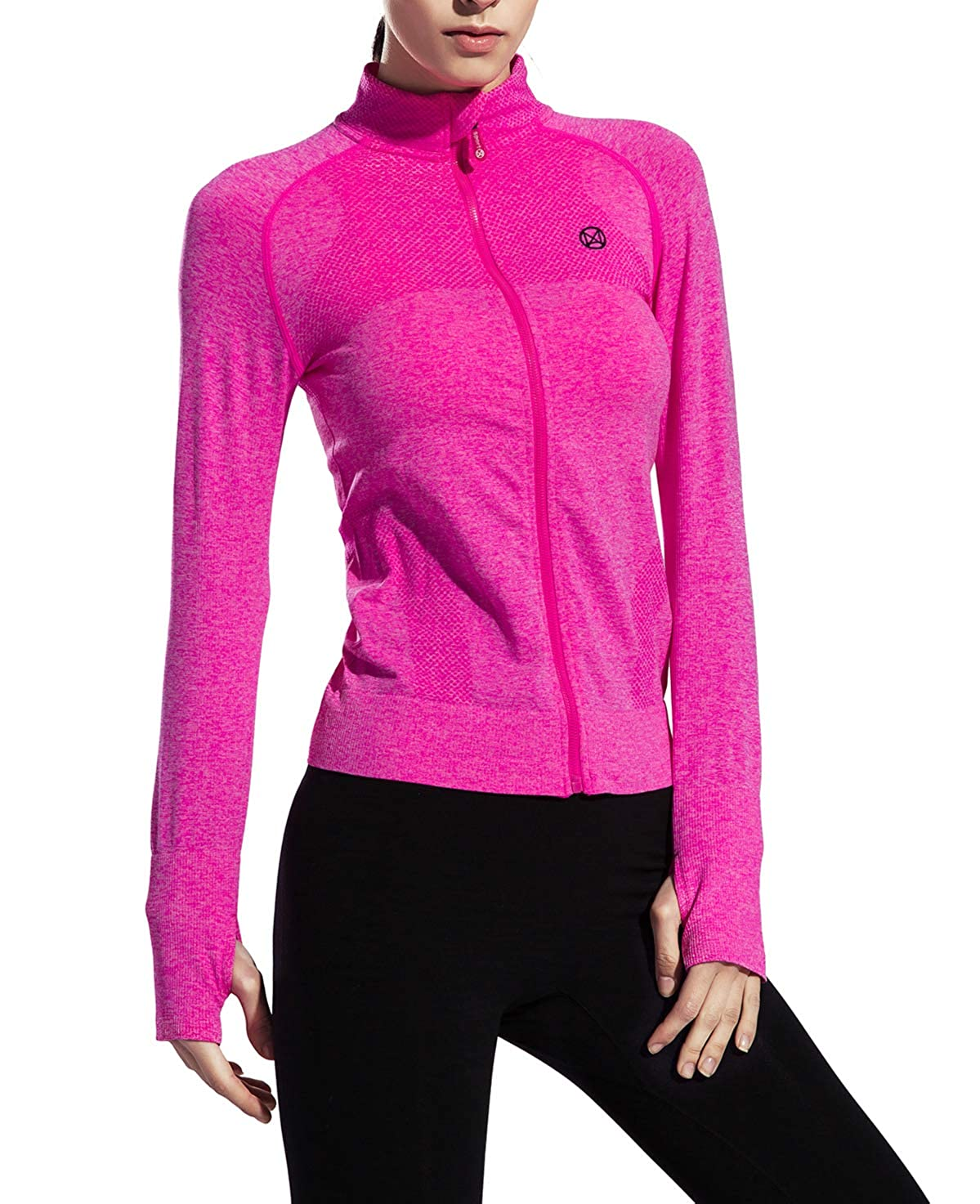 Slimour Women Long Sleeve Compression Yoga Tops Track Jerseys Running Jackets Performance zz_fy_LC_0925US05