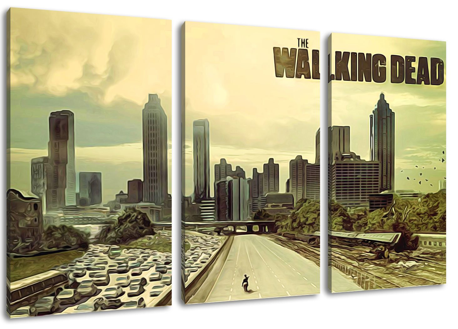 The Walking Dead of 3 Canvas Wall Art, overall size: 120 x 80 CM ...