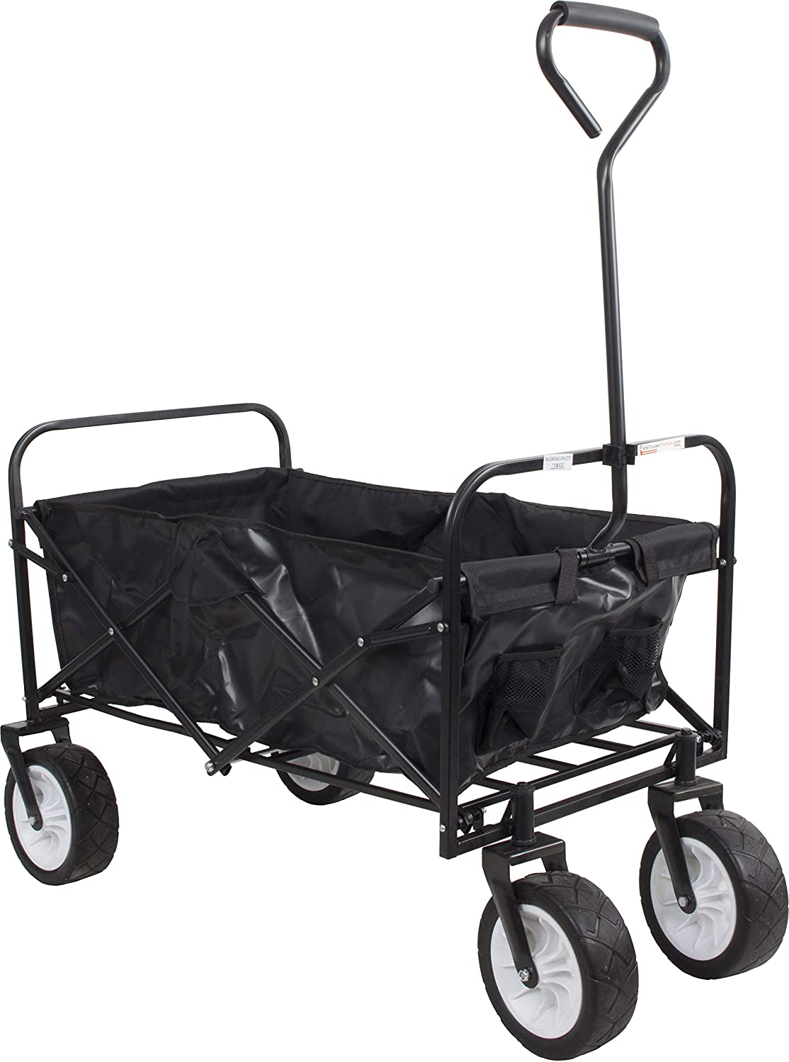 70kg Folding Garden Festival Beach Camping Trolley Wagon Hand Cart Wide Wheel SafetyLiftinGear