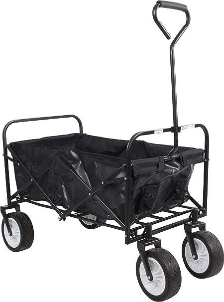 70kg Folding Garden Festival Beach Camping Trolley Wagon Hand Cart