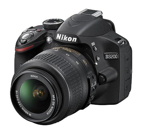 Nikon D3200 Digital SLR Camera with 18-55mm VR Lens Kit - Black (24.2MP) 3 inch LCD
