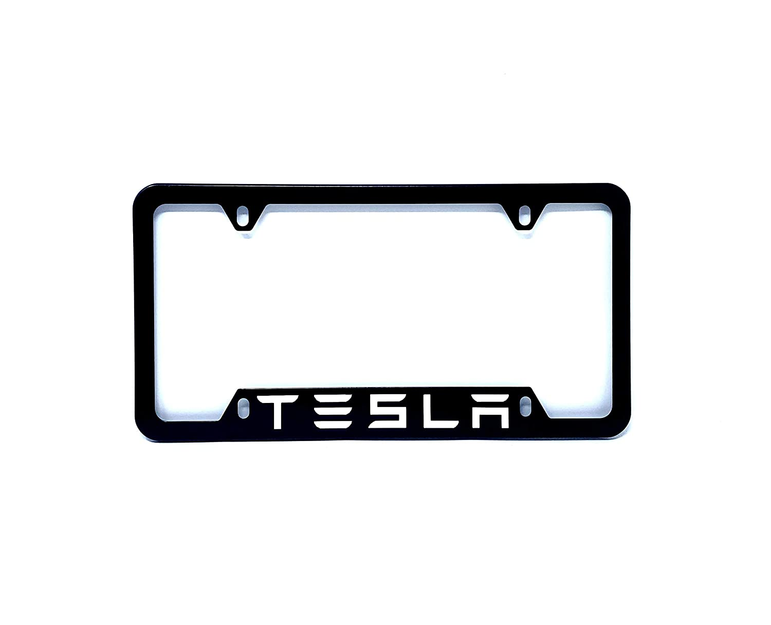 RENGVO pack of 1 BLACK License Plate Cover Frame Plate Aluminum Holder with Screws High Quality For MODEL 3 X S etc