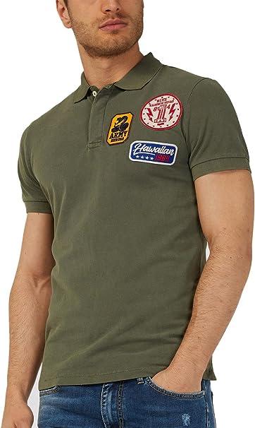 Gas - Polo - para Hombre Verde Militar S: Amazon.es: Ropa y ...