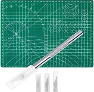 Anezus Craft Knife Precision Cutter and Self Healing Cutting Mat Hobby Knife Set with 30 PCS Hobby Blades Art Knife for Art Hobby Craft Scrapbooking Stencil