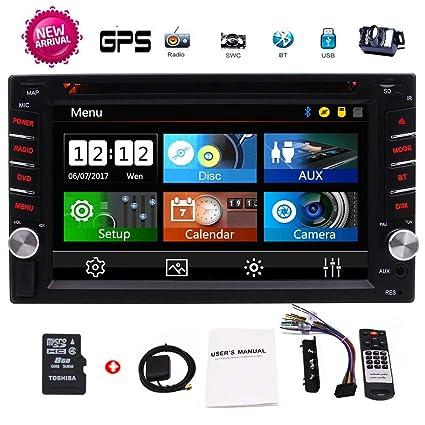 EinCar 2 Din Car GPS 6.2 pantalla táctil capacitiva en el tablero de coches