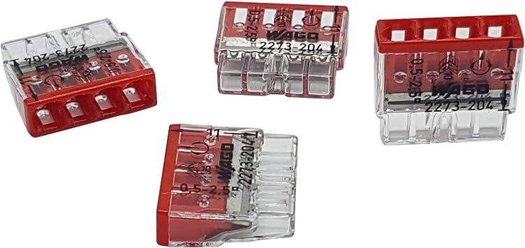 WAGO Verbindungsdosenklemme 3polig Compact 0,5-2,5qmm transp.//orange