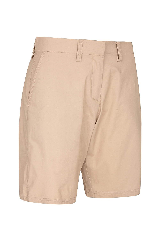 Vacaciones y Viajes Ligeros y con m/últiples Bolsillos Mountain Warehouse Pantalones Cortos Seaside Chino para Mujer Ideales para Paseos 100/% algod/ón