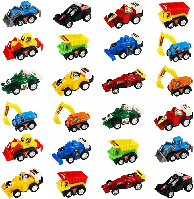 jerryvon Mini Coches de Juguete para Bebes Juguetes Vehiculos Construccion, Coches Juguetes, Coche Carreras, Car ...