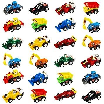 jerryvon Mini Coches de Juguete para Bebes Juguetes Vehiculos Construccion, Coches Juguetes, Coche Carreras, Car Model, Camion para Niños, 24 Pcs