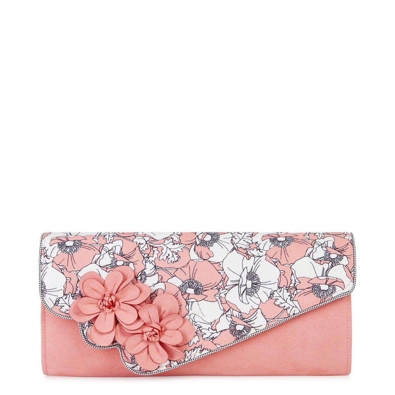 Ruby Shoo Women's Peach Floral Heidi Fabric Slingback Pumps & Rio Bag UK 5 EU 38 by Ruby Shoo (Image #6)