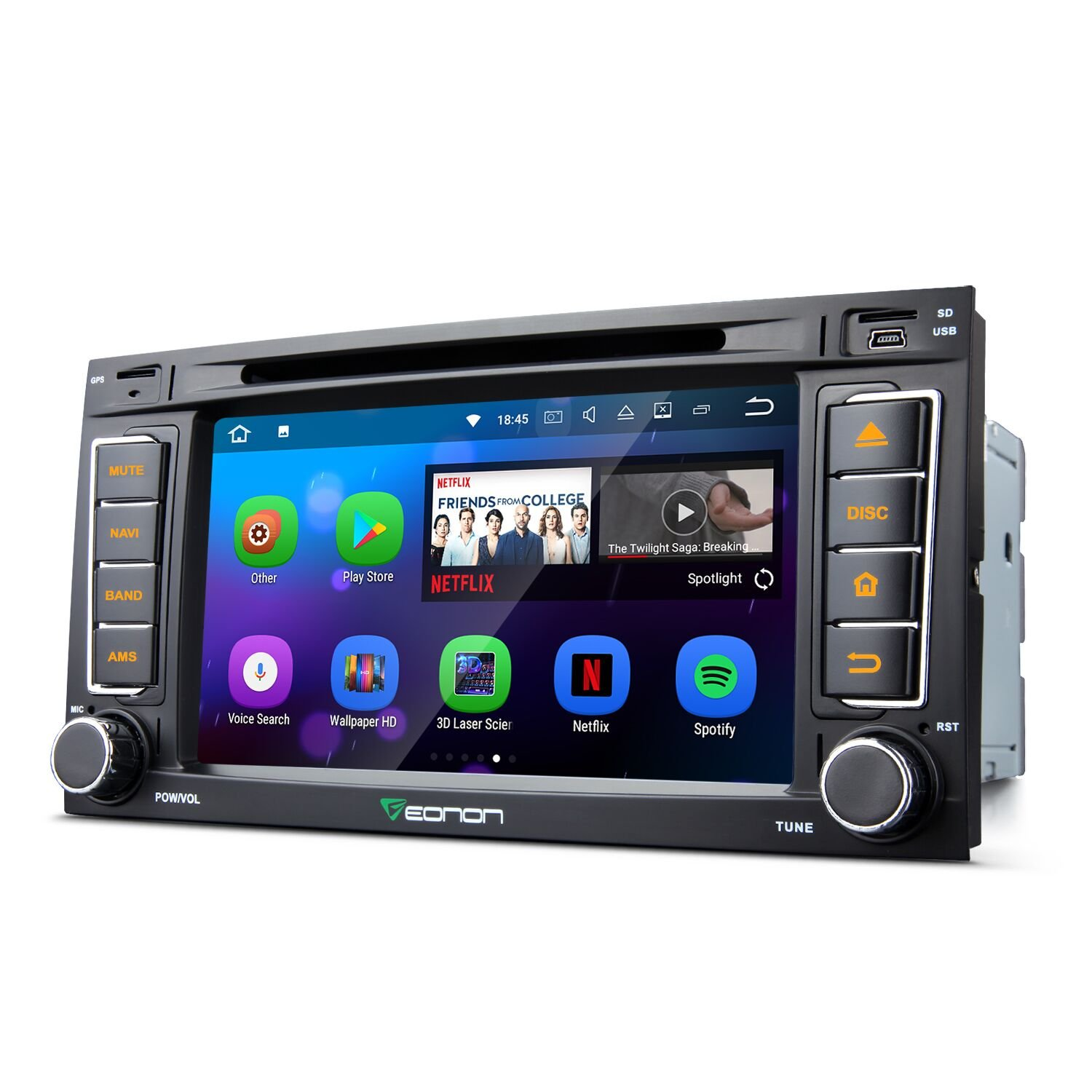 Eonon GA8202 Car Audio Stereo Radio for Volkswagen(VW) Touareg/T5 Multivan/Transporter 7'' Android 7.1 Car GPS Navigation In Dash Touchscreen Support Fastboot Wifi MirrorLink AUX USB SD Backup Camera