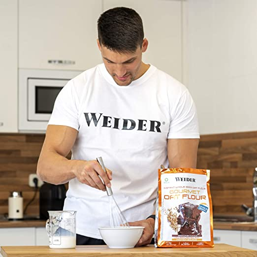 Weider Oat Gourmet. Harina de Avena Integral. Fuente de proteína con bajo contenido en azúcares. Sabor Brownie (1 kg)