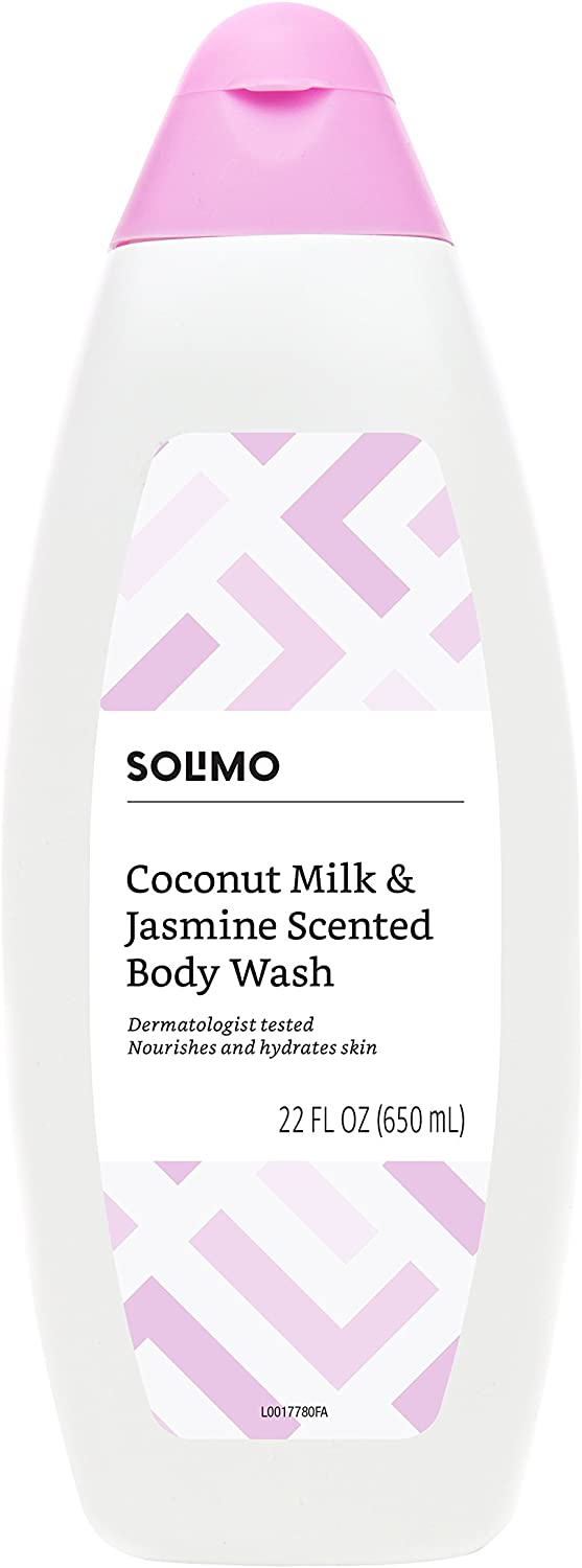 Amazon Brand - Solimo Body Wash, Coconut Milk and Jasmine Scented, 22 Fluid Ounce