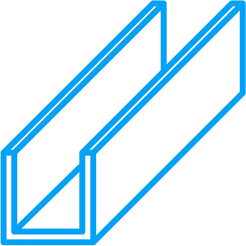 L/änge: 1000 mm EN AW-6060 in 50 x 50 x 50 x 3 mm thyssenkrupp U-Profil aus Aluminium gepresst Alu Profil Schiene