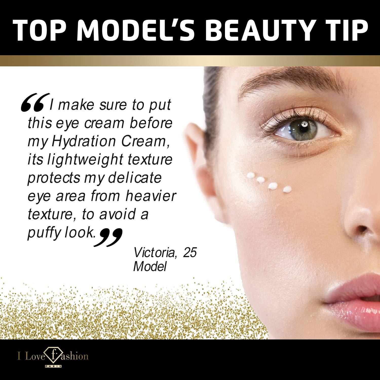 FTV Cosmetics Anti Aging Moisturizer Eye Cream - Patented Complex with Vitamin C, Vitamin E, Vitamin A. Long-Term Reducti