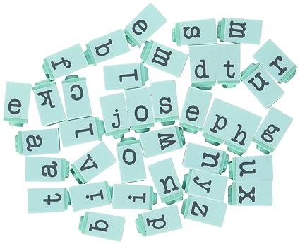 Prima Marketing PPAS 60850 Press Alphabet Stamp Set 025 Inch Characters