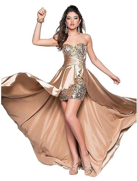 Amazon.com: Eyekepper Ladies Beaded Front Short Long Back Prom ...