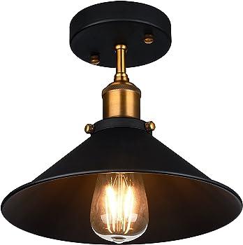Oak Leaf Industrial Ceiling 1-Light Pendant