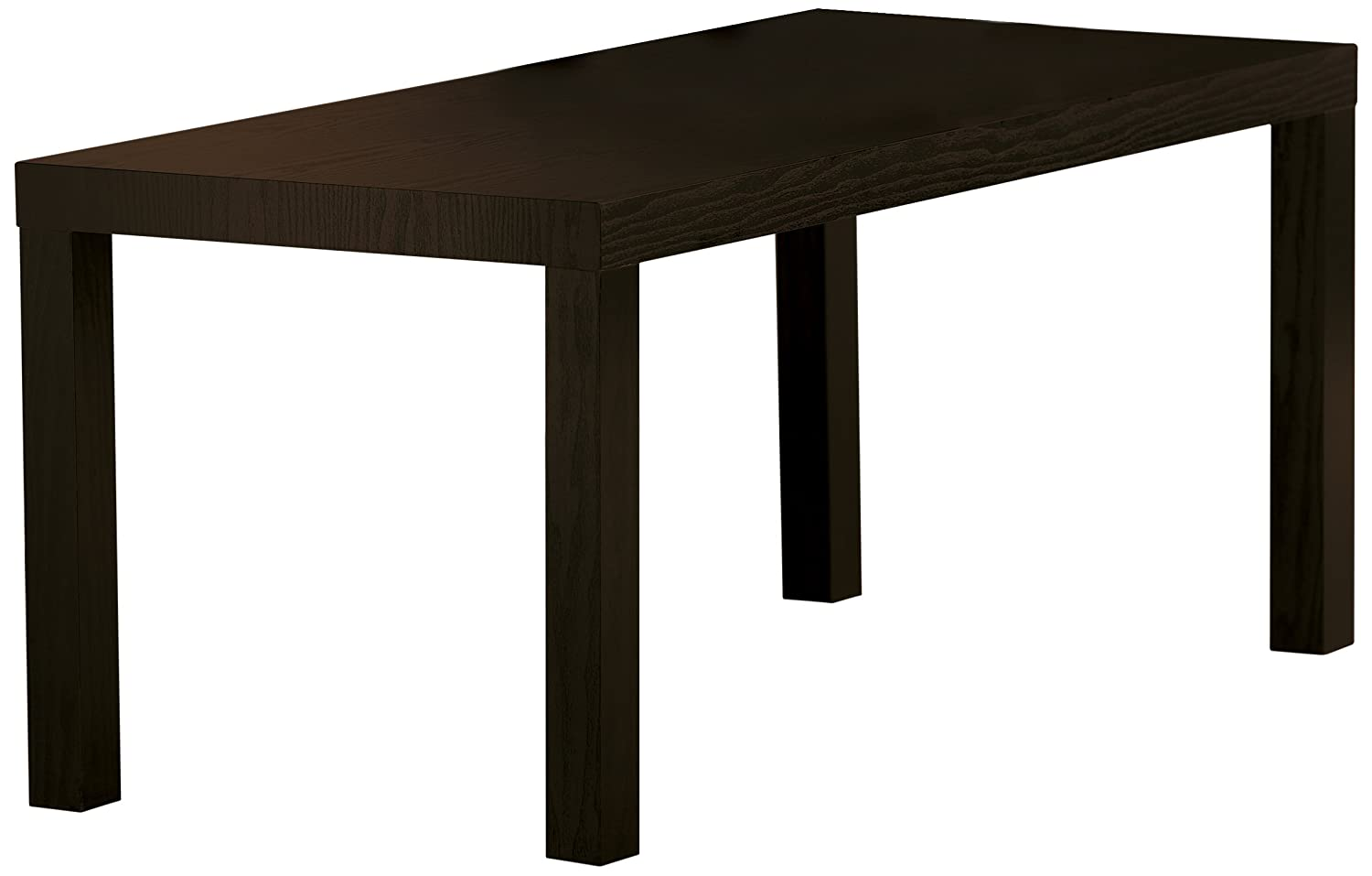 DHP Parsons Modern Coffee Table, Black Wood Grain