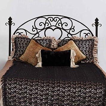 Cama parrilla estilo - vinilo adhesivo decorativo para pared, diseño moderno cabecero de cama adhesivo decorativo para pared para doble Full Queen King ...