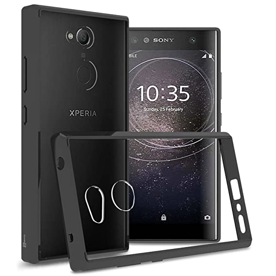 separation shoes 7c320 a2360 Sony Xperia XA2 Ultra Case, CoverON ClearGuard Series Hard Slim Fit Phone  Cover with Clear Back and Flexible TPU Bumpers for Sony Xperia XA2 Ultra -  ...