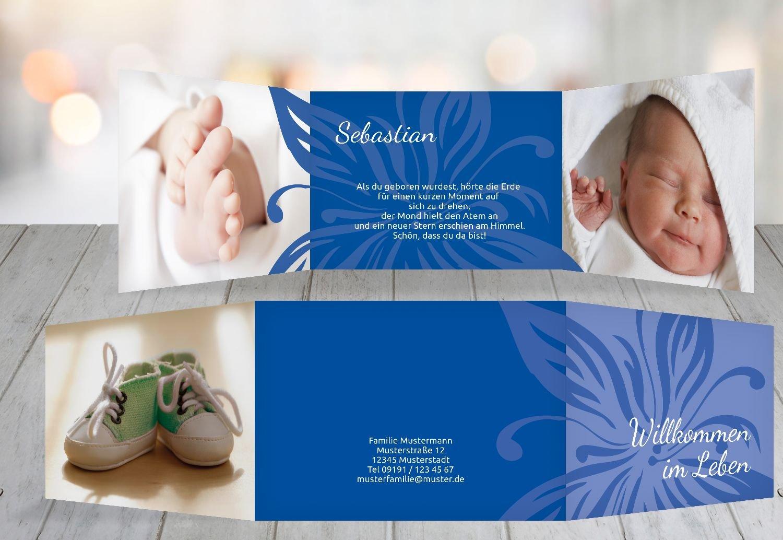 Kartenparadies Geburtskarte Babykarte Blaume, hochwertige Babykarte zur Geburt inklusive Umschläge   20 Karten - (Format  148x105 mm) Farbe  DunkelGrün B01MSDBWVV | Exquisite (mittlere) Verarbeitung  | Verschiedene  | Helle Farben