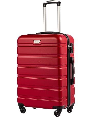 70ec466e761323 COOLIFE Hartschalen-Koffer Trolley Rollkoffer Reisekoffer mit TSA-Schloss  und 4 Rollen