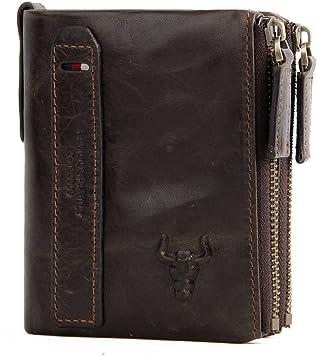 Mens Wallets RFID Wallet Men Leather Genuine Vintage Coin Purse Zipper Wallets