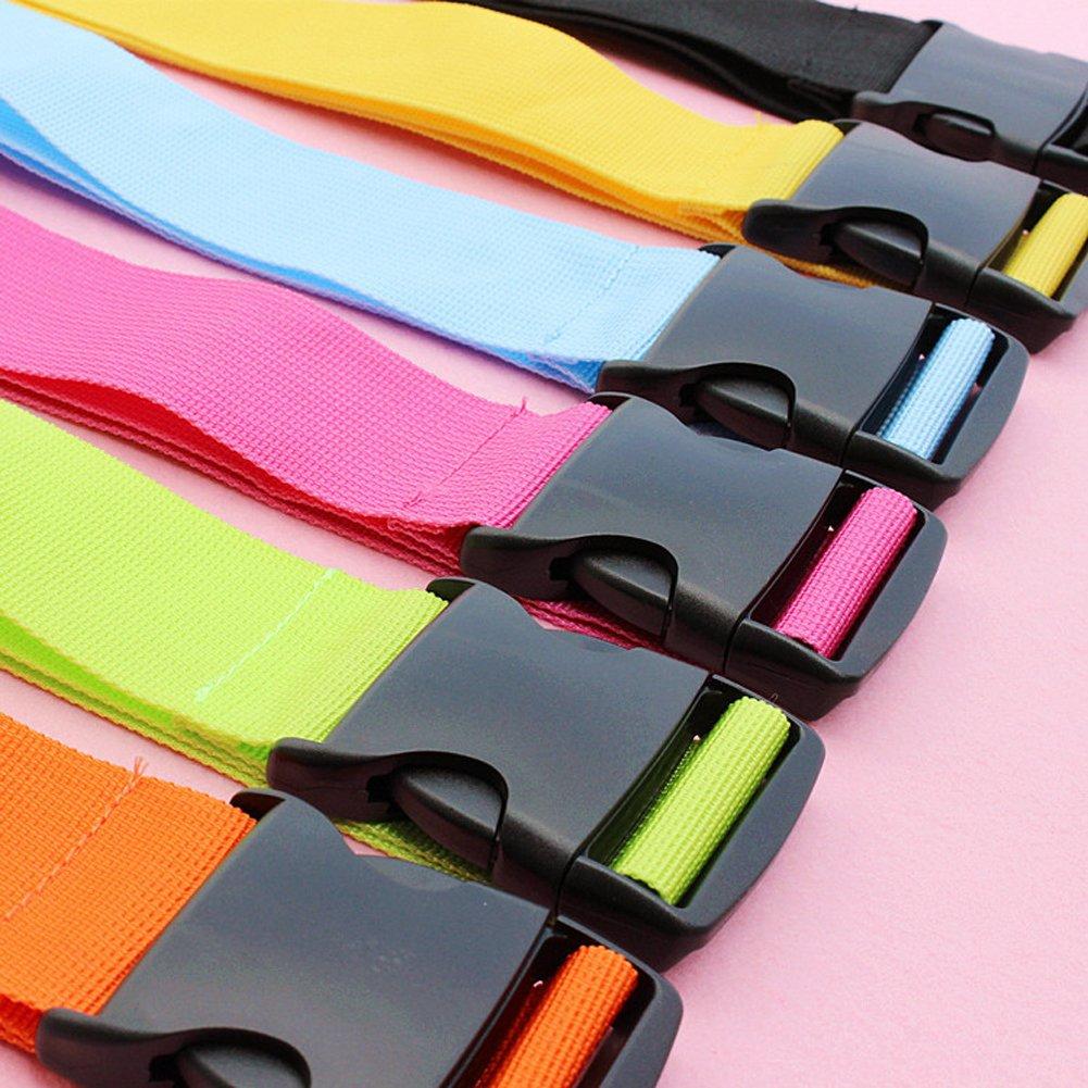 Lalago Set of 3 Multicolor Nylon Luggage Strap