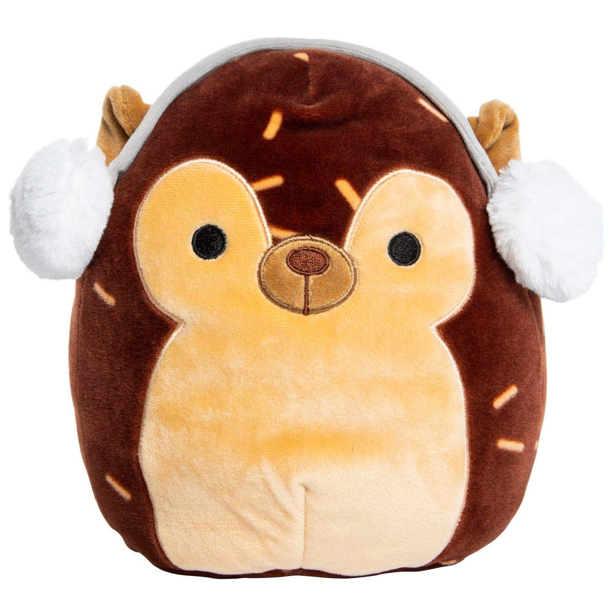 Squishmallow Kellytoy Christmas Squad 8 Inch Dawn The Fawn with Earmuffs Super Soft Plush Toy Animal Pillow Pal Buddy Holiday Stocking Stuffer