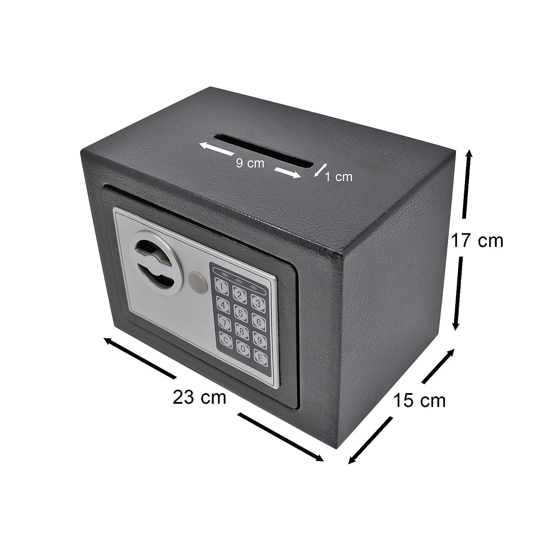 Caja Fuerte de Depósito Pequeña Electrónica Anti Bounce: Amazon.es ...
