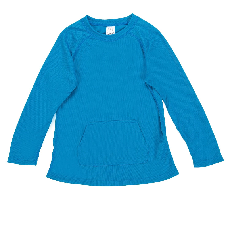 ATTRACO Children Long Sleeve Rash Guard Raglan Swimsuit Beach Sun Shirts Tops Aqua 4 by ATTRACO