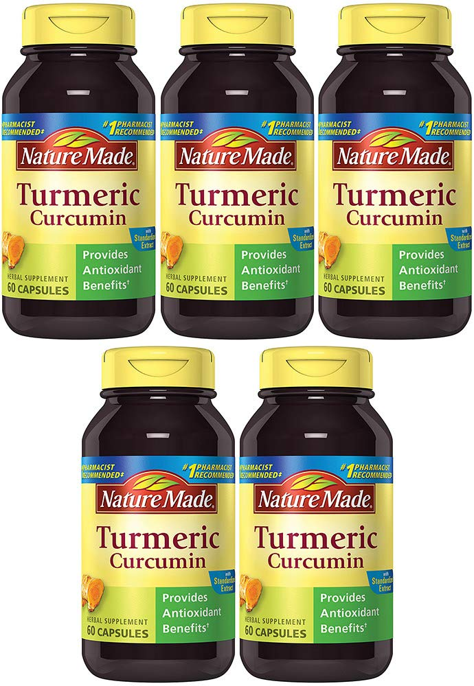 NM Turmeric Curcumin 500 mg, 60 Tablets (5 Bottles)