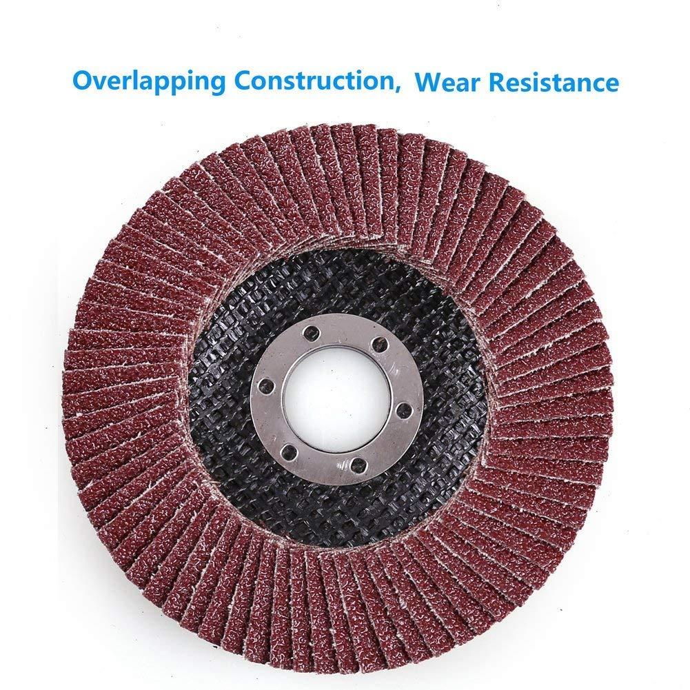 Flap Disc Flap Wheel 115 mm 60Grit Flap Grinding Disc Sanding Flap Wheels Industrial Abrasive Grinding Wheels Sanding Discs For Wood Polishing 10 Piece Flap Discs by Cemok