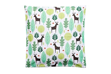 Kissenbezug Kissenhüllen mit Reißverschluss Dekokissen 100/% Baumwolle Grün 60x60