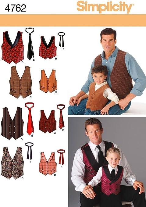 Simplicity 4762 - Patrón para Chalecos y Corbatas para niños ...