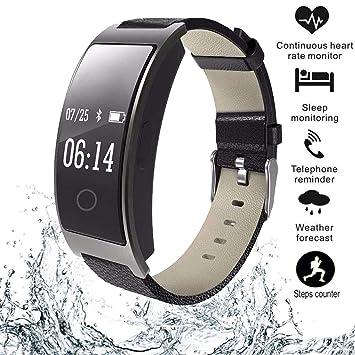 Zeerkeer Reloj Inteligente Impermeable IP67 Smartwatch, Pulsera Actividad con Monitor , Contador de calorías, Sueño,Monitor de presión Arterial ...