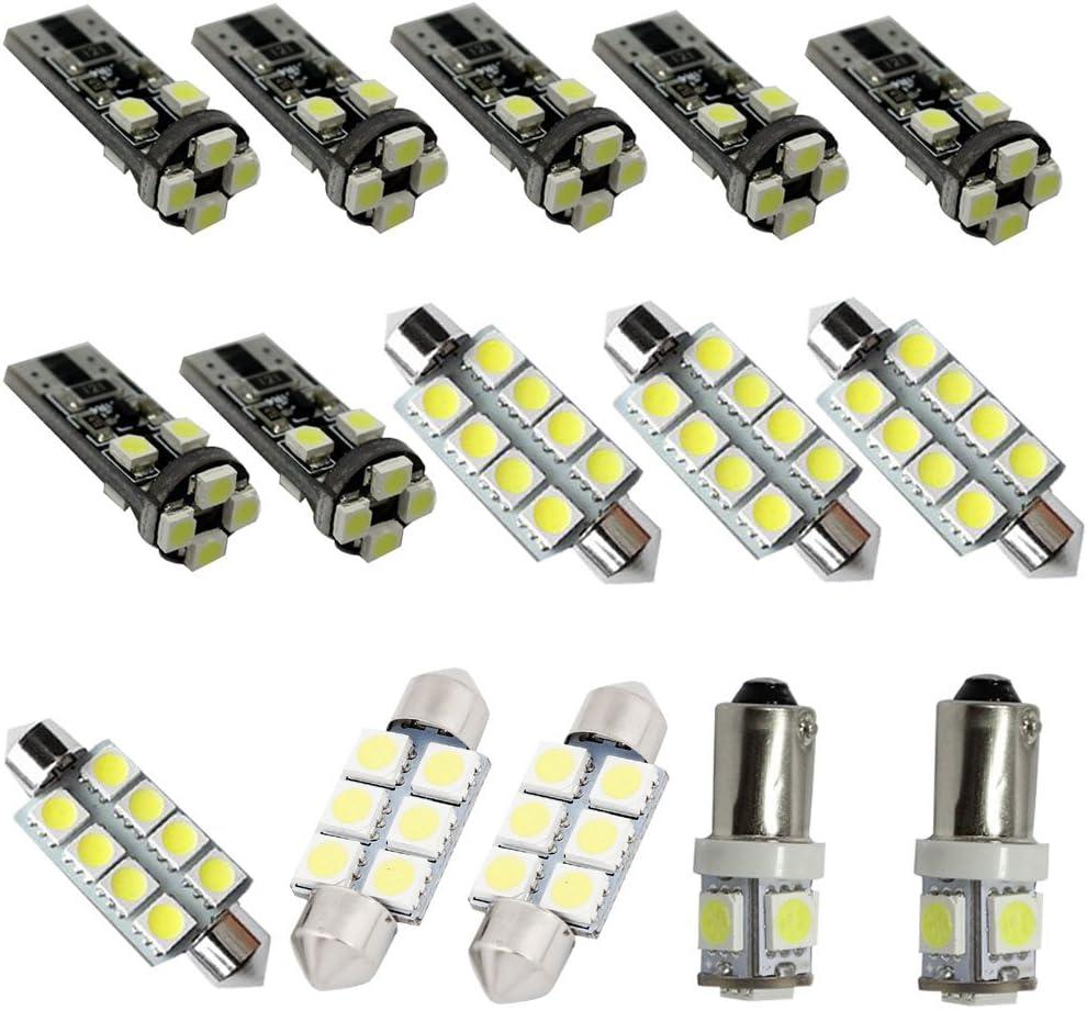 For Audi A5 S5 A4L Led Interior Lights Led Interior Car Lights Bulbs Kit White 2007-2018 15Pcs