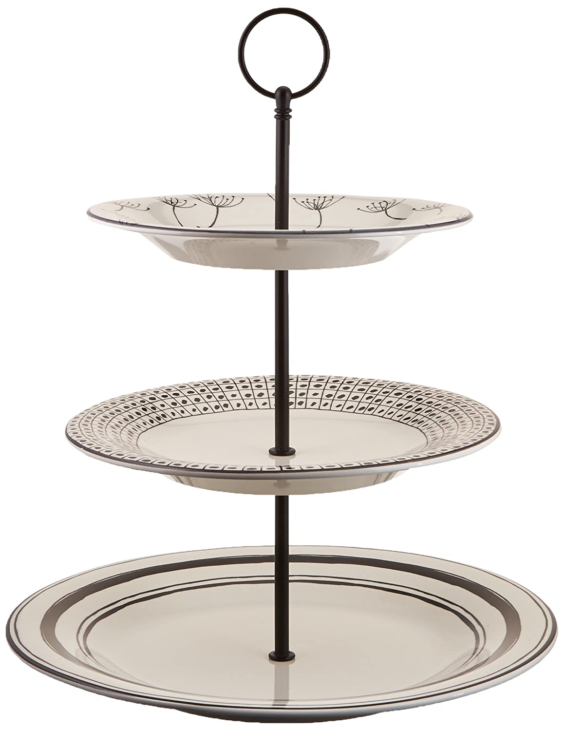 Lenox Around the Table 3 Tiered Server, White 857292