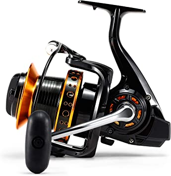 Lixada 13BB Spinning Reel 4.0: 1 Speed Ratio Big Trolling Fishing ...
