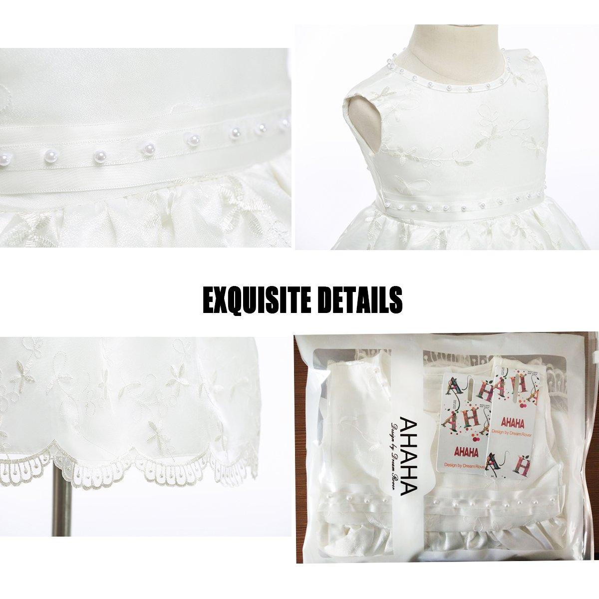 Fancy Luu Vestidos de Bautizo Vestidos de Bautismo de Cristo para Niñas Bañador de Bautizo a Mano con Traje Bautismal