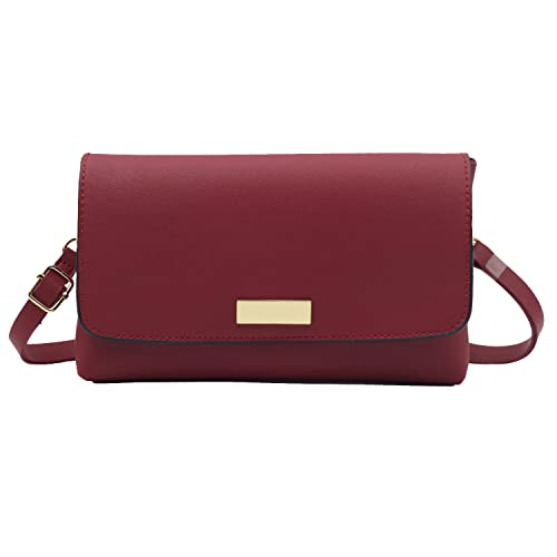 Simple Style Synthetic Leather Crossbody Purse Bag Wristlet Clutch PU Small  Handbag for Women (Red)  Amazon.ca  Shoes   Handbags