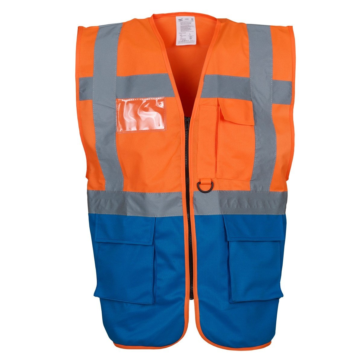 Yoko Hi-Vis Premium Executive/Manager Waistcoat / Jacket (XXL) (Hi Vis Orange/Royal)
