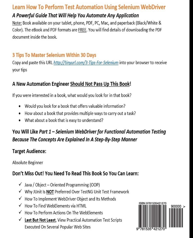 Automation Testing Books Pdf