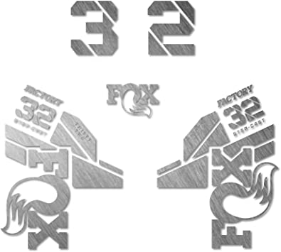 Aufkleber Gabel f/ür Fahrrad Modell 2020 Fox 32 Step Cast Sticker Bike Fox 32 Step Cast Fork Decals wei/ß