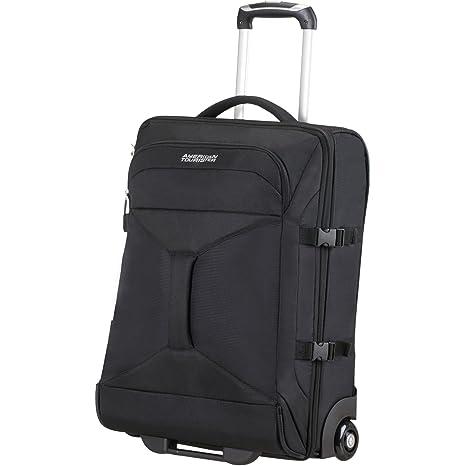 AMERICAN TOURISTER Road Quest - 2 Compartments Wheeled Duffle 55/20 Bolsa de viaje, 55 cm, 40 liters, Gris (Grey/turquoise)