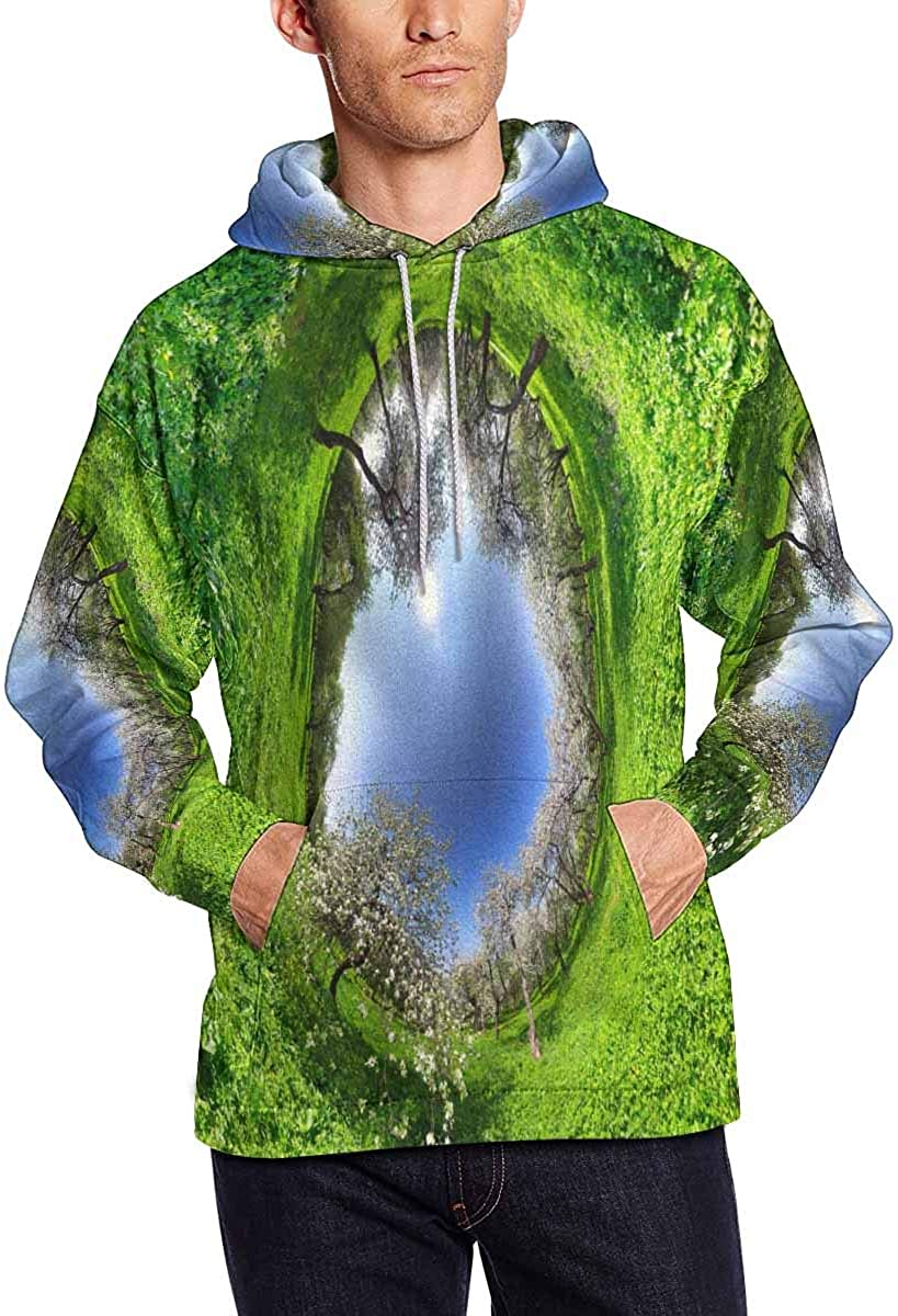 INTERESTPRINT Mens Magic Forest Hoodies Sweatshirt