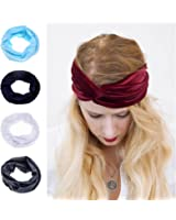 Ever Fairy Women Elastic Adjustable Turban Headwrap Knotted Soft Twisted Headband