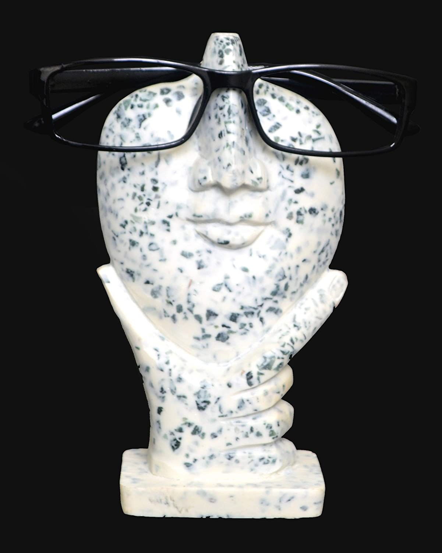 wei/ß Sculpted Nose f/ür Brillen oder Sonnenbrillen das Leben ist gut Kaizen Casa Chiped Artsy Face Brillenhalter St/änder