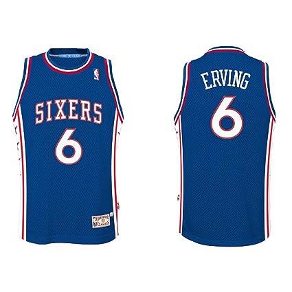 7ef72f43e04 Julius Erving  6 Philadelphia 76ers Youth Adidas Soul Swingman Road Jersey  (Medium)